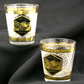 gold trimmed shot glass
